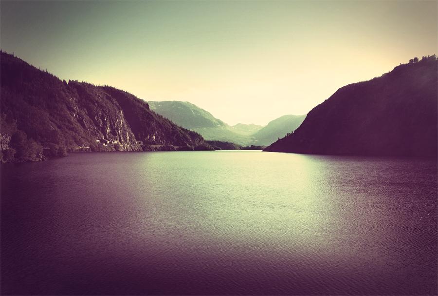 Fjordlandschaft vintage