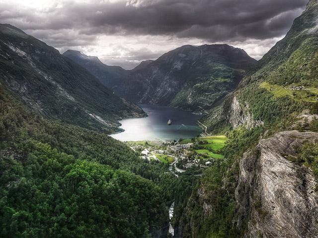 hdr-bild-gairanger-fjord
