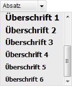 Texteditor/Werkzeugleiste: Absätze einfügen