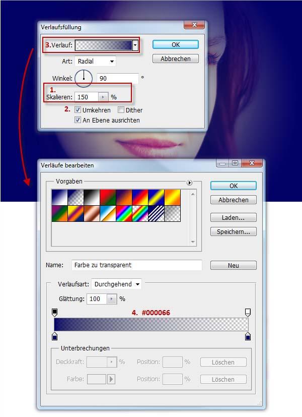 Photoshop Retro-Look: Verlaufsfüllung