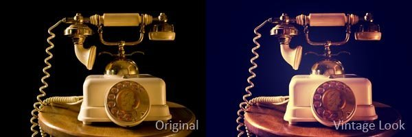 Photoshop Vintage Look: Direktvergleich Beispiel 1