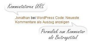 WordPress: Neueste Kommentare anzeigen (Standard)