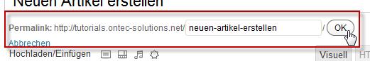 Suchmaschinenfreundliche URL prüfen (Permalink)