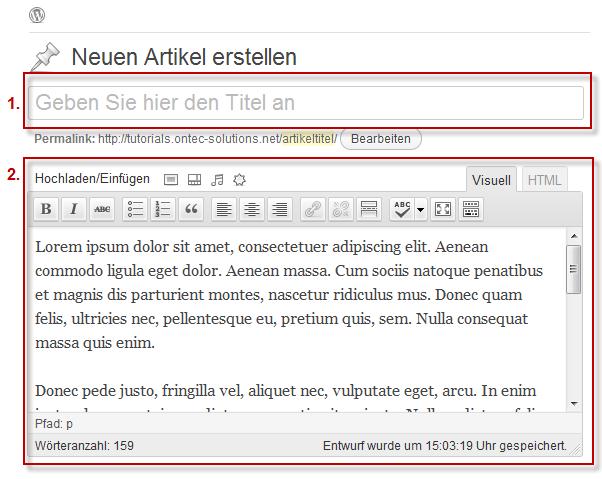 WordPress Artikel bearbeiten