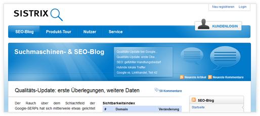 SISTRIX: Suchmaschinen- & SEO-Blog