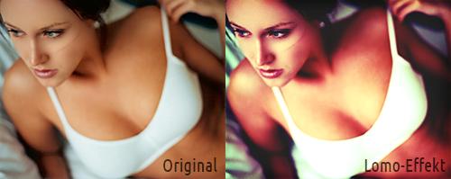 Photoshop Lomo-Effekt: Direktvergleich