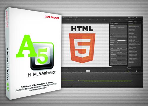 Data Becker stellt Software für HTML5 Webanimation vor: A5 HTML5 Animator