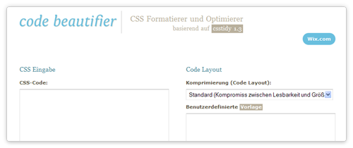 CSS Optimizer von codebeautifier.com