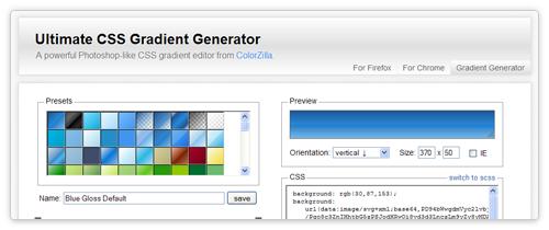 Gradient Generator von www.colorzilla.com