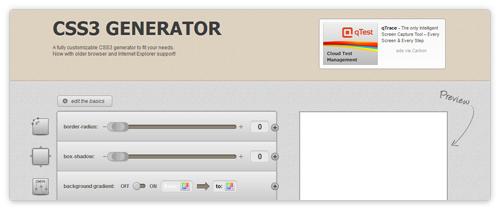 CSS3 Online Generator von www.css3.me