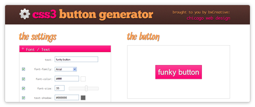 CSS3 Button Generator von css3buttongenerator.com