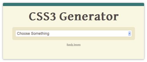 CSS3 Online Generator von css3generator.com