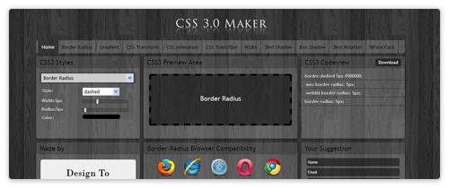 CSS3 Online Generator von css3maker.com