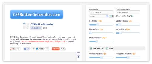 CSS Button Generator von cssbuttongenerator.com