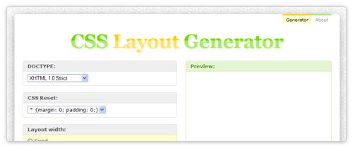 CSS Layout Generator von csslayoutgenerator.com