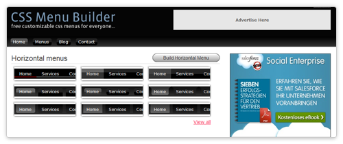CSS Menue Builder von cssmenubuilder.com