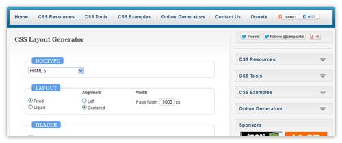 CSS3 Online Generator von cssportal.com