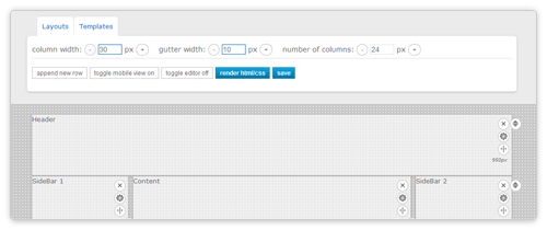 Layout Generator von pageblox.com