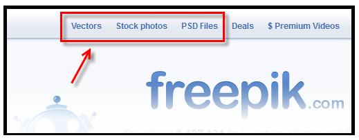 Freepik: schnelle Suche