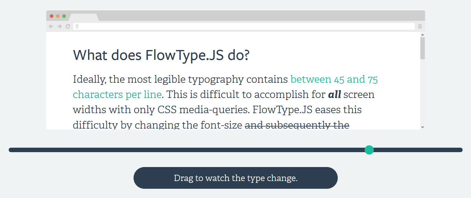 Responsiver Body Text mit FlowType.JS Plugin