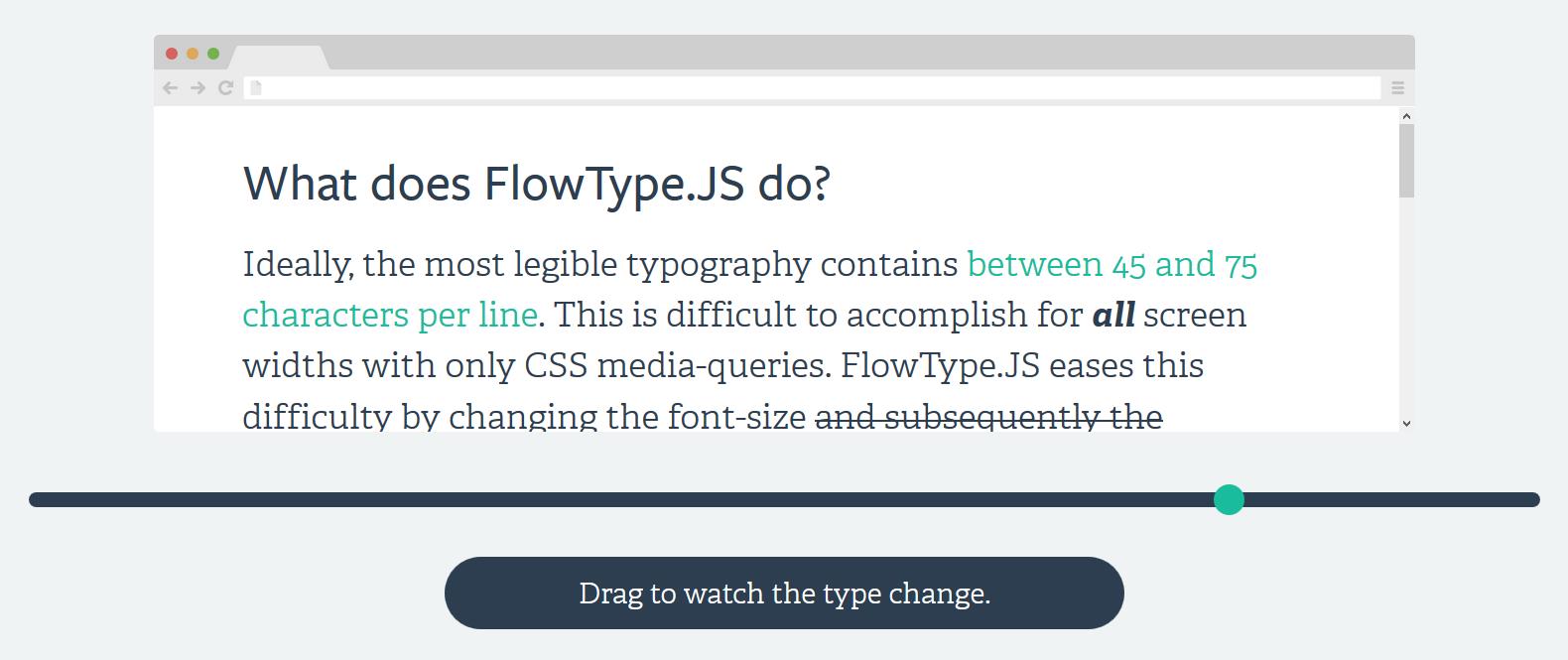 Responsiver Body Text mit FlowType.JS Plugin