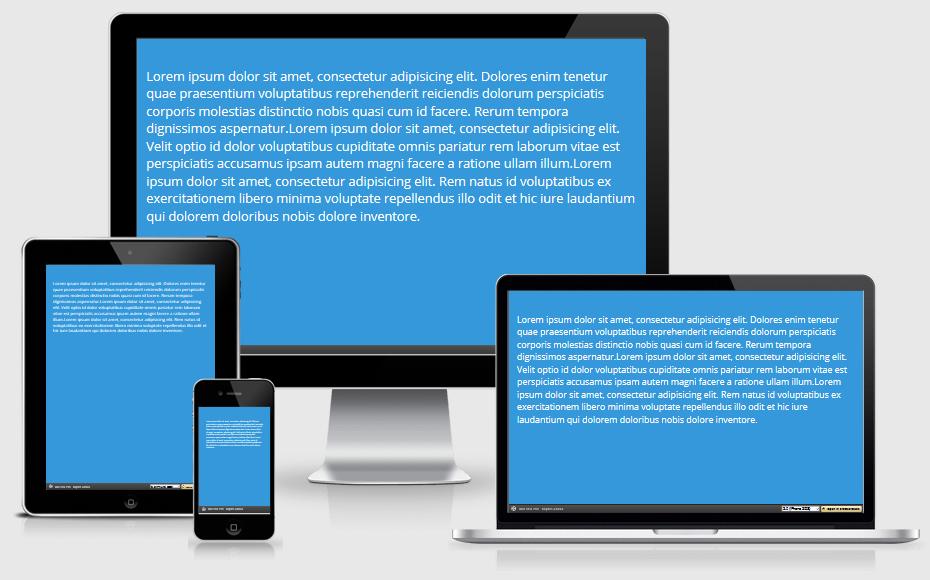 Responsiver body-Text mit CSS Viewport-Einheiten.