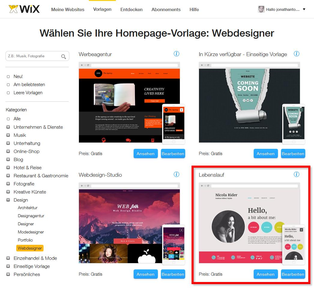 Wix.com - Der moderne Homepage Baukasten für Kreative