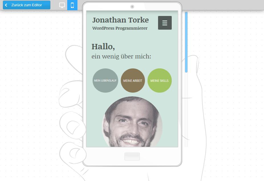 Wix.com: Smartphone-Vorschaumodus
