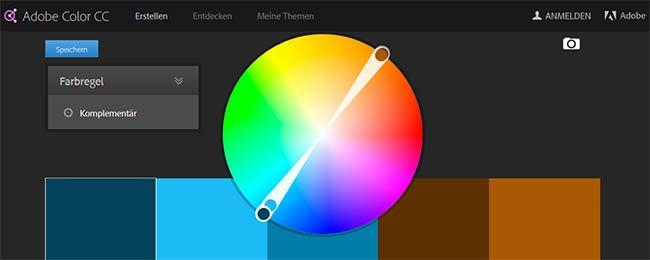 Erstelle individuelle Farbpaletten mit Adobe Color CC