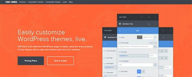 Mit dem CSS-Hero WordPress-Plugin kannst Du das Design Deines WordPress-Themes anpassen