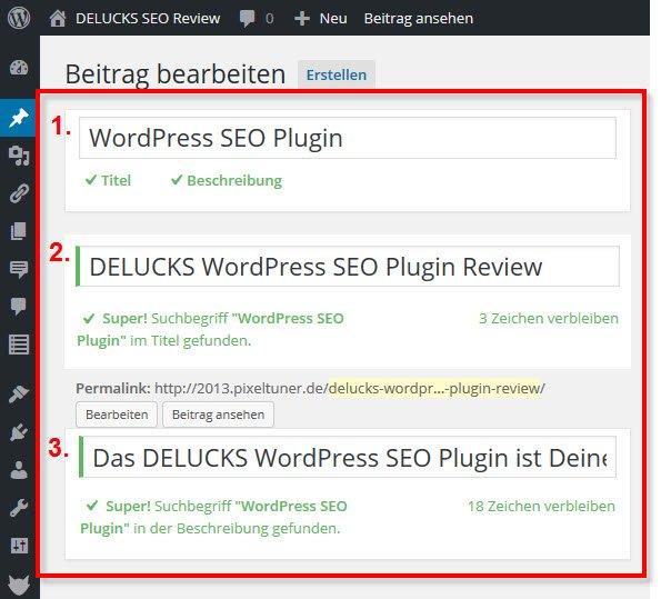 Keyword-Optimierung bei Seiten und Beiträgen