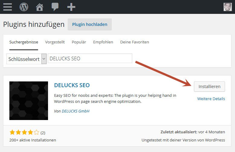 DELUCKS SEO Plugin Installation