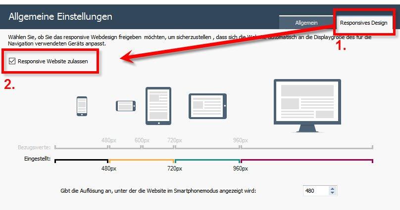 Responsive Webdesign aktivieren