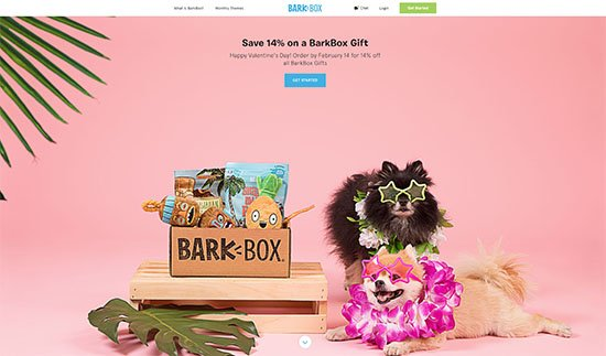 Landing-Page Design von barkbox.com