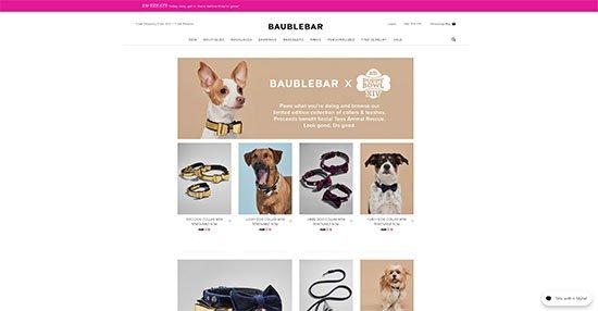 Landing-Page Design von baublebar.com