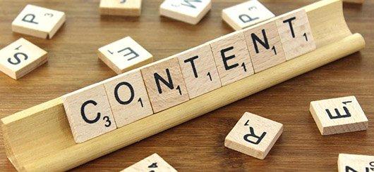 Website-Content und Menüstruktur