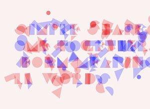Geometrische Buchstaben