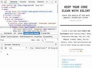 Eine Liste mit coolen Chrome DevTools Tipps und Tricks
